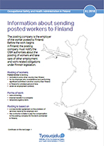 Information about sending posted workers to Finland